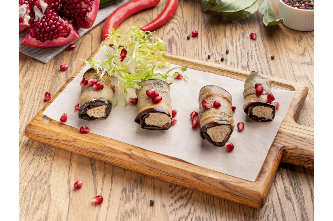 Баклажаны фаршированные грецкими орехами